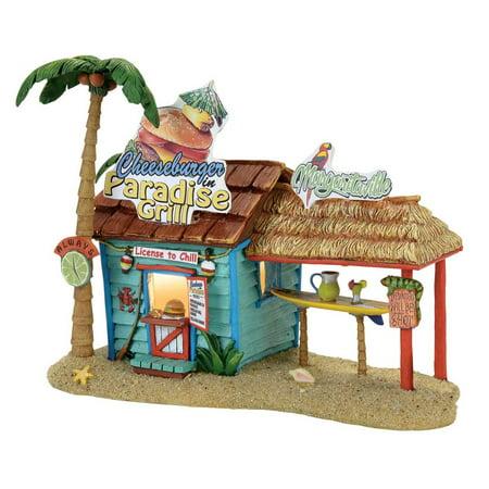 Dept 56 Margaritaville Village 4058488 Paradise Grill Jimmy - Sepia Village