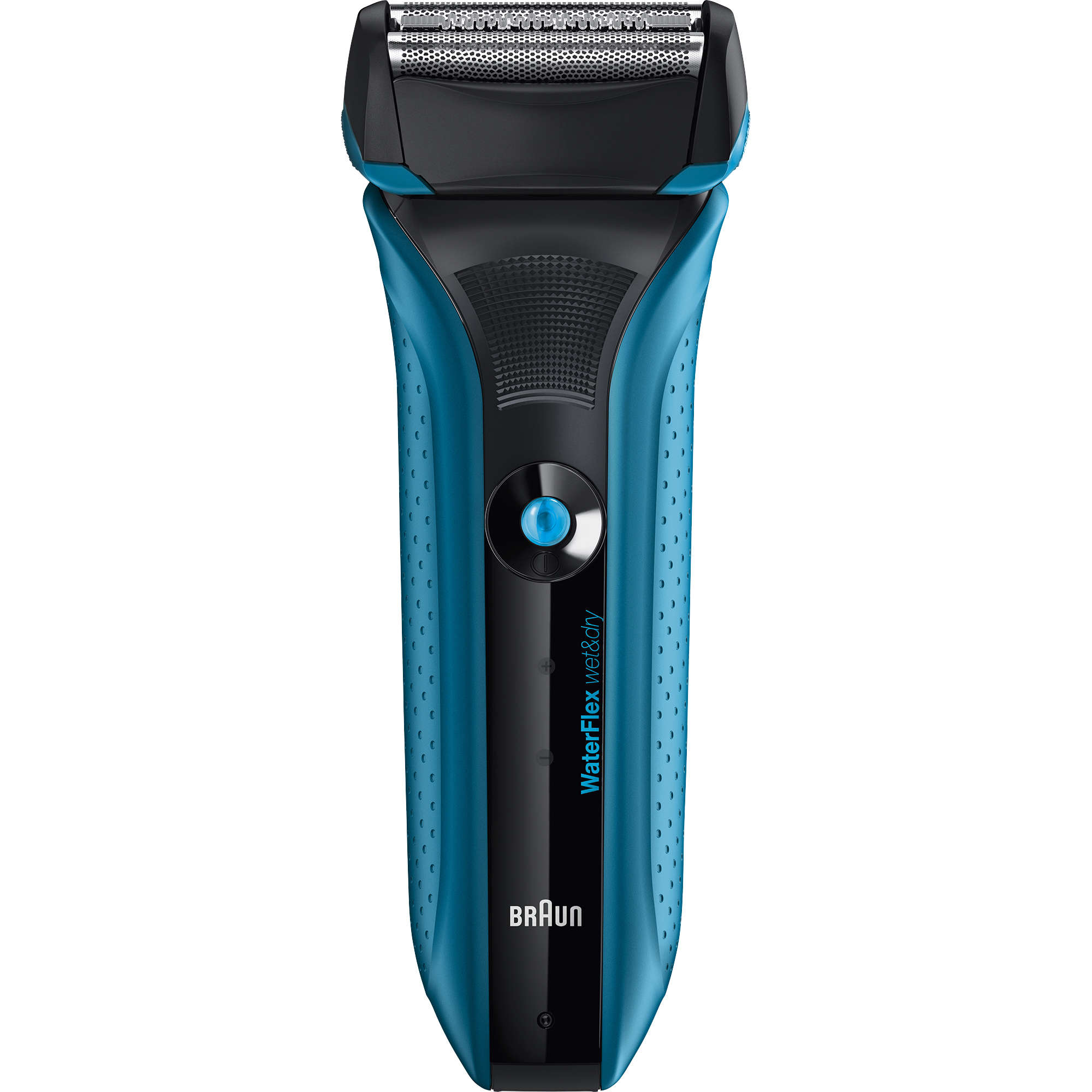 Braun WaterFlex WF2s Wet&Dry Electric Shaver for Men / Rechargeable Electric Razor, blue