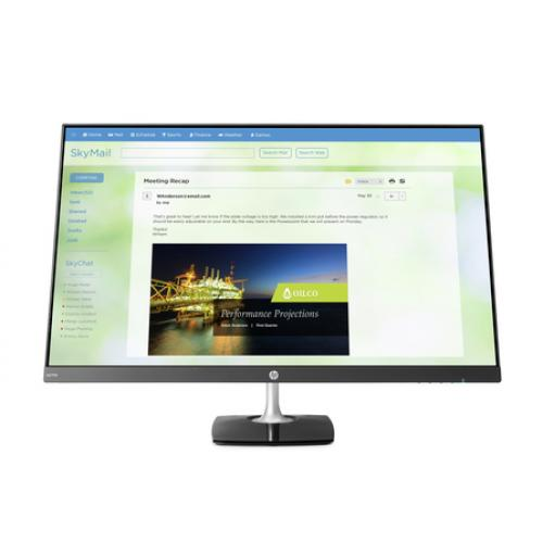 "HP N270h 27"" Full HD Monitor - 16:9 - 5 ms - 1,000:1 - 250 Nit - 16.7 Million Colors - Anti-Glare - ENERGY STAR 7.0 - Black/Silver"