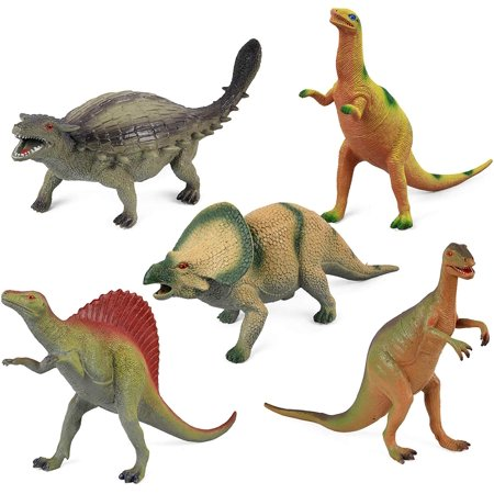 Toys & Hobbies Dinosaur Toy Play Set Jumbo Animal Kids Toddler Pretend Figures 5 Piece New