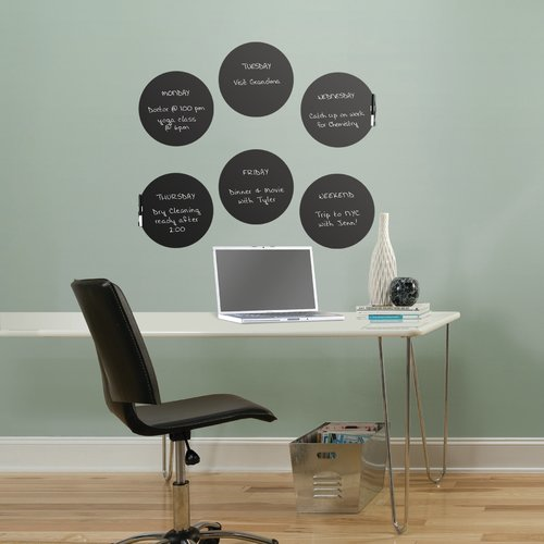 Trule Teen Charcoal Dry Erase Dots Wall Decal (Set of 6)