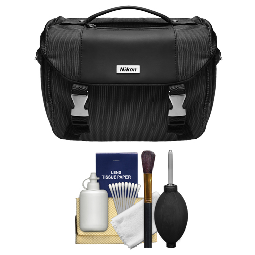 Nikon Deluxe Digital SLR Camera Case - Gadget Bag + Cleaning Kit for Df, D610, D750, D810, D850, D7200, D7500, D5500, D5600, D3300, D3400