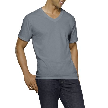 55ef27357afc30 Fruit of the Loom - Big Men s Dual Defense Black Gray V-Neck T-Shirts  Extended Sizes