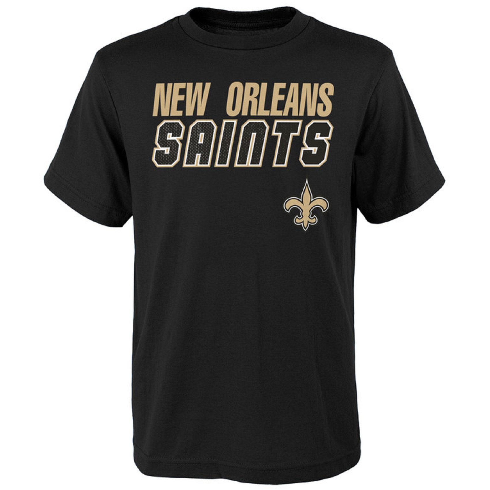 Youth Charcoal New Orleans Saints Outline T-Shirt