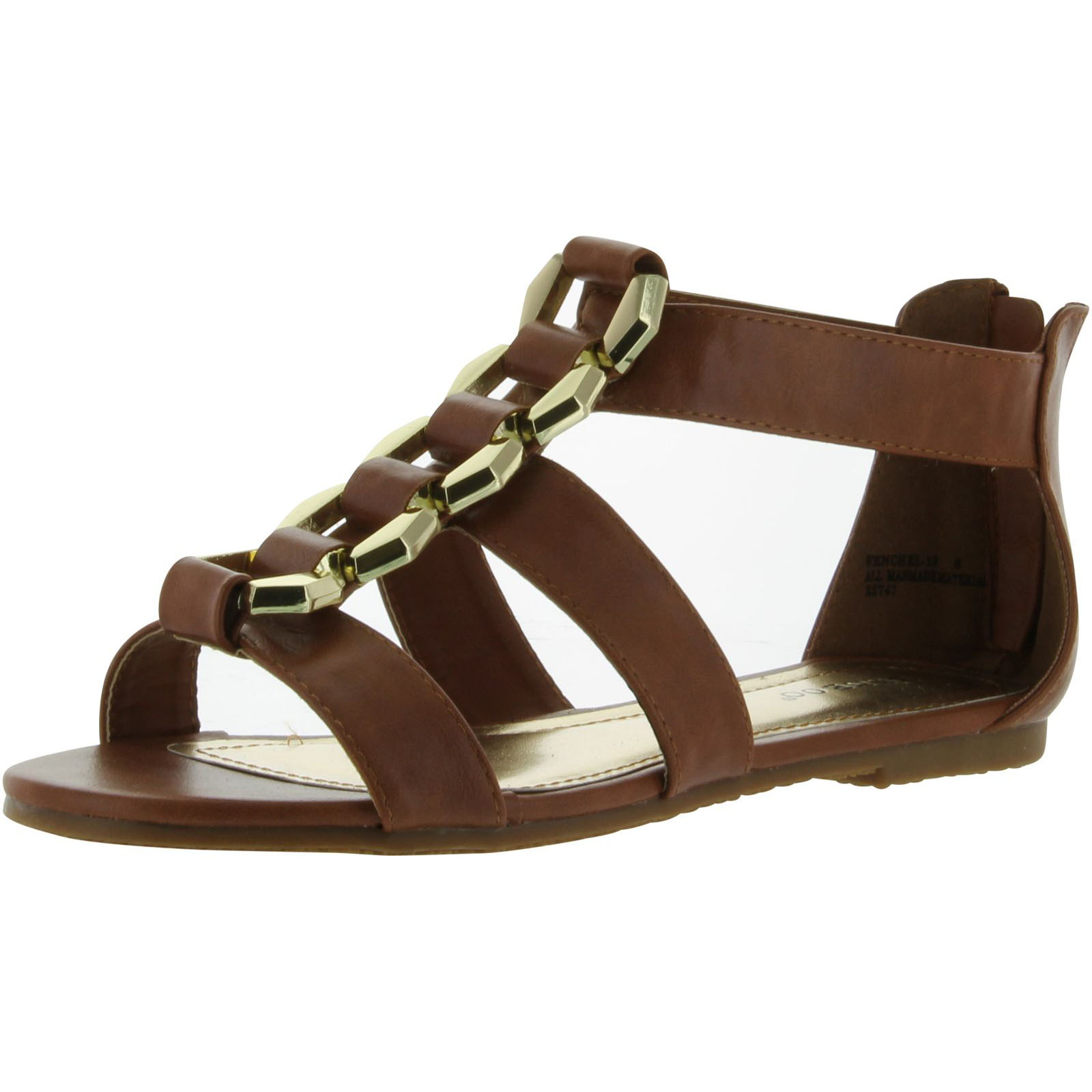 Bamboo Womens Fenchel-13 Fashion Strappy Flat Sandals