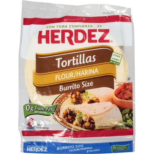 Herdez Burrito Size Flour Tortillas, 17 oz, (Pack of 12)