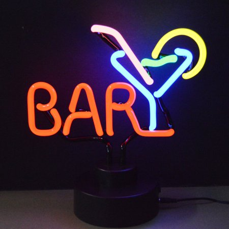 Neonetics Business Signs Bar with Martini Neon Sign