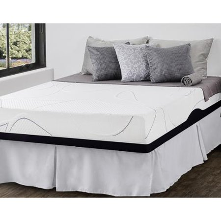 priage 10 inch full size gel memory foam mattress and smartbase foundation set. Black Bedroom Furniture Sets. Home Design Ideas