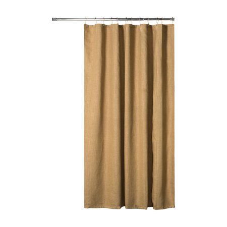 Thomasville At Home Burlap Jute Extra Long Shower Curtain