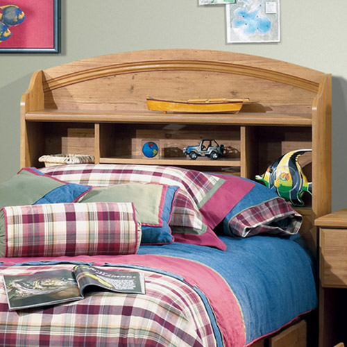 South Shore Prairie Bookcase Headboard, Pine