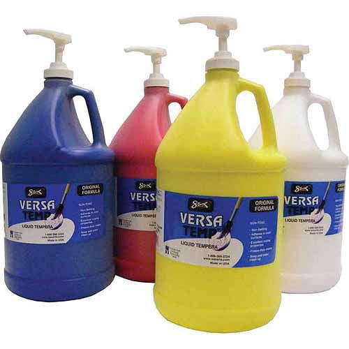 Sax Versatemp Tempera Paint Kit, Set of 4 Gallons