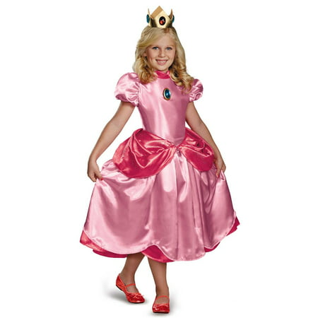 Super Mario Brothers Princess Peach Deluxe - Super Mario Bros. Costumes For Halloween