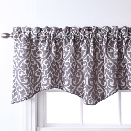 Breeze Window Valance - Twill & Birch Belle Maison USA, LTD. Bryce Chenille Scalloped Curtain Valance with Cording