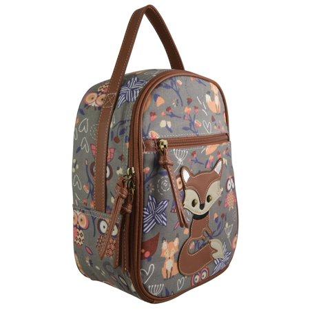 1875c06e4a33 CHA - Cute Fox & Owl Print Girls and Teens Insulated Lunch Bag ...