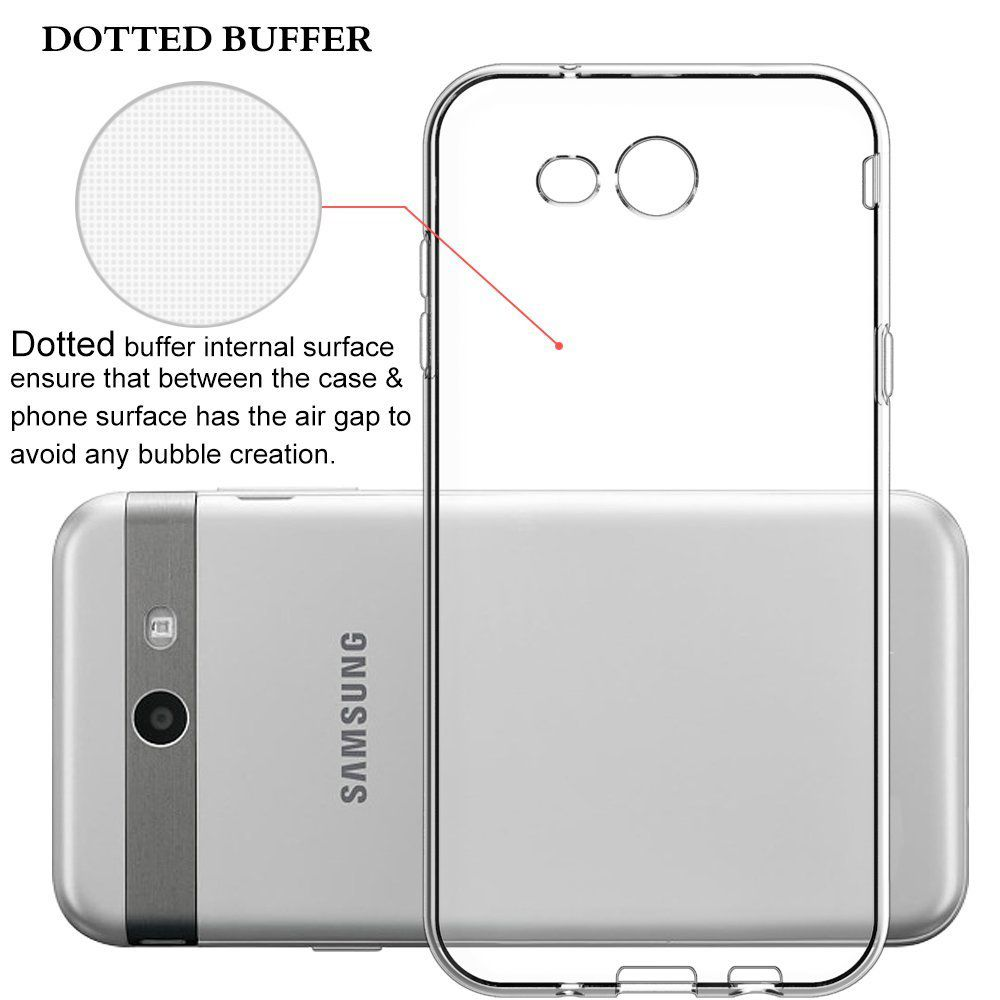 Samsung Galaxy J7 2017 phone case, by Insten Crystal TPU Rubber Candy Skin Back Gel Case Cover For Samsung Galaxy J7 (2017) - Clear - image 2 of 3