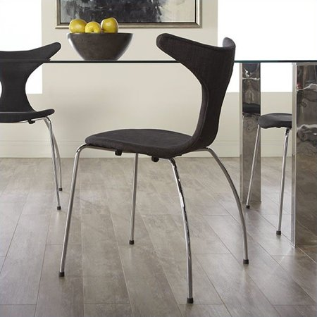 Eurostyle Frida  Dining Chair in Dark Gray Fabric - image 1 of 6