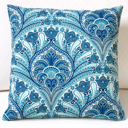ARTISAN PILLOWS  Outdoor 18-inch Tommy Bahama Blue Beach Riptide Throw Pillow Cover (Set of 2) ()