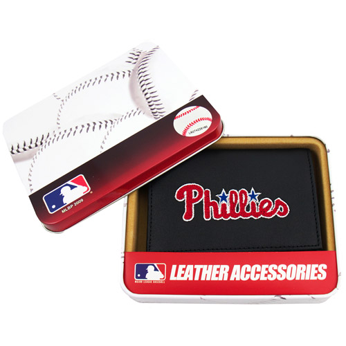 MLB - Men's Philadelphia Phillies Embroidered Trifold Wallet