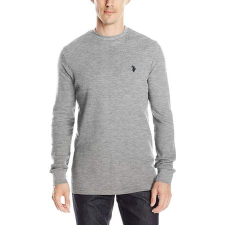 fe3fb5ea U.S. Polo Assn. - U.S. Polo Assn. Men's Long Sleeve Crew Neck Solid Thermal  Shirt - Walmart.com