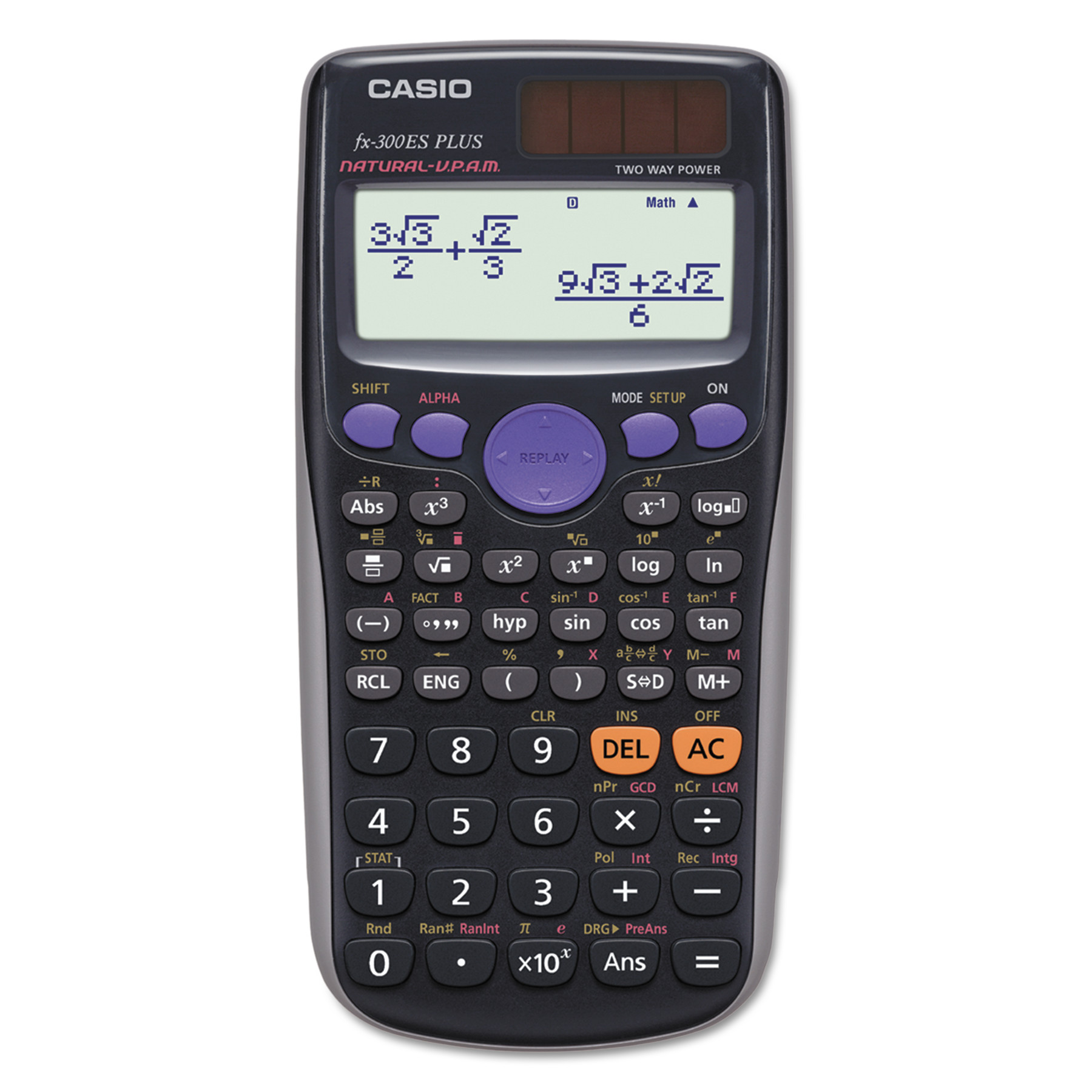 Casio FX-300ES Plus Scientific Calculator, Natural Textbook Display