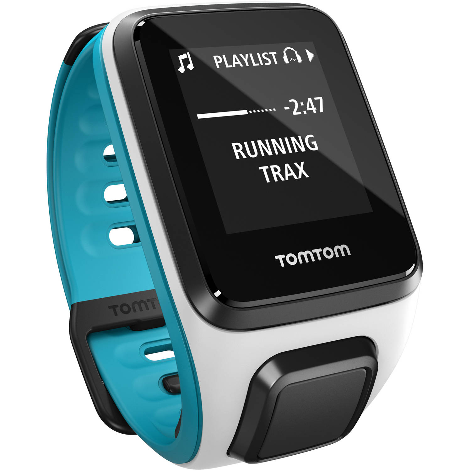 TomTom Spark Music Activity Tracker, Small, White/Scuba Blue