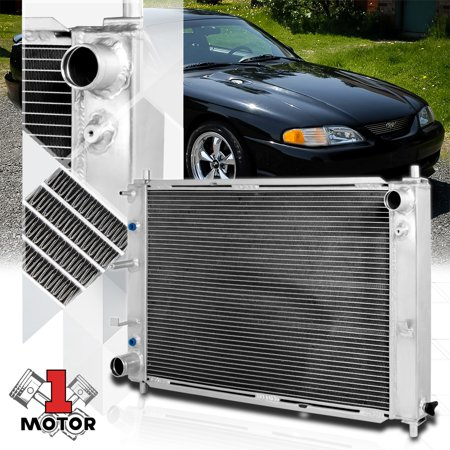Aluminum 3 Row Performance Cooling Radiator for 97-04 Ford Mustang V8 Auto AT 98 99 00 01 02 03 (Ford Mustang Radiator Kit)
