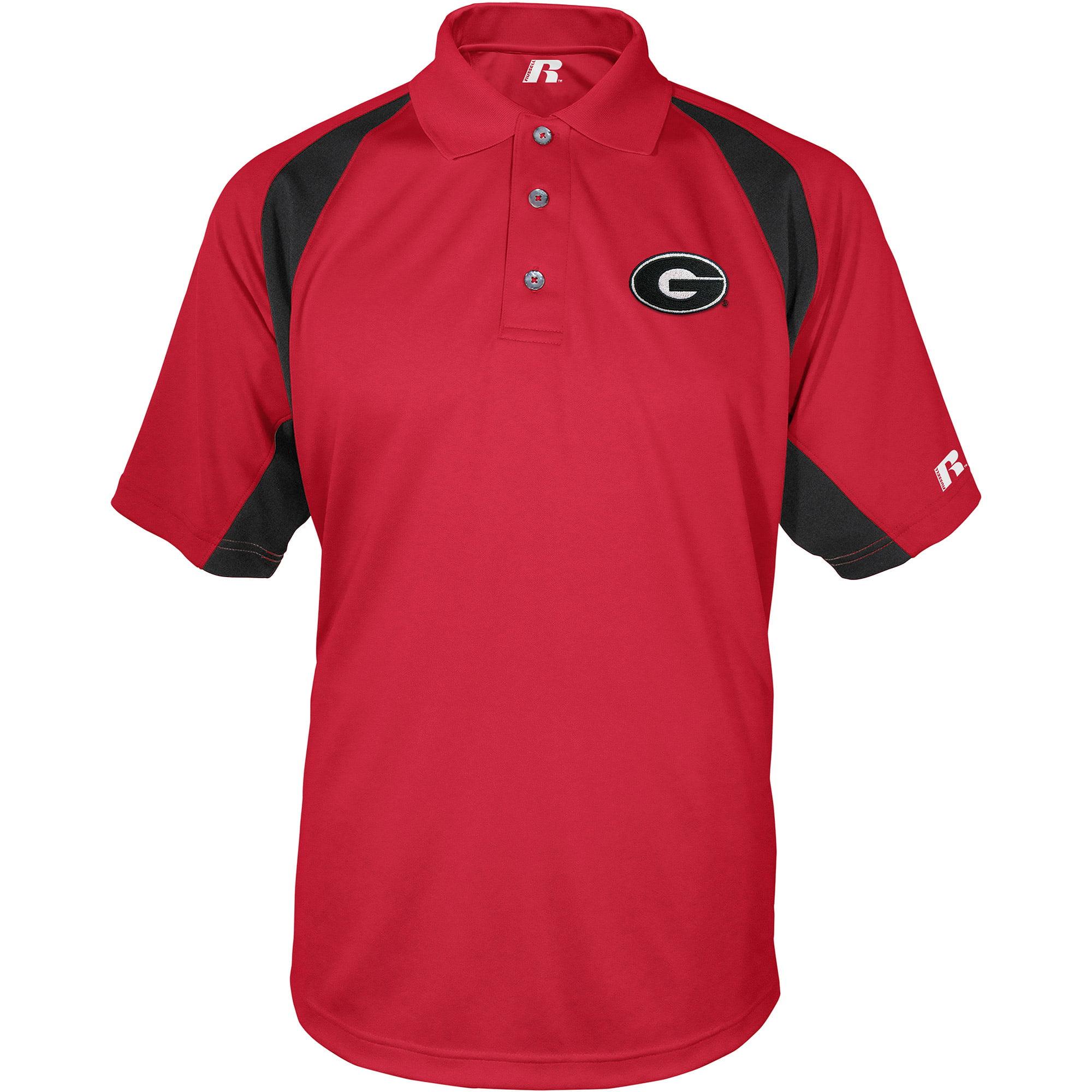 Russell NCAA Georgia Bulldogs, Men's Synthetic Polo