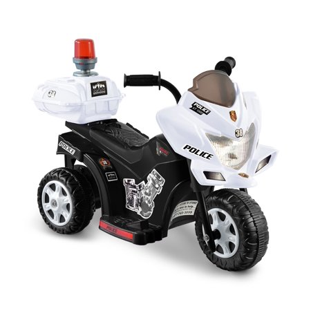 kid motorz lil patrol 6 volt battery operated ride on black