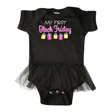 My 1st Black Friday Gift Shopping Infant Tutu Bodysuit