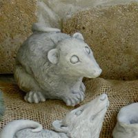 Eddie the Possum Garden Statue