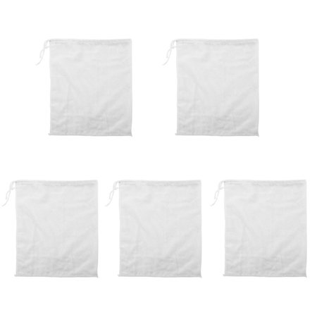 Linen Herb Brew Raw Food Mesh Net Strainer Filter Bag White 28cm x 22cm 5pcs