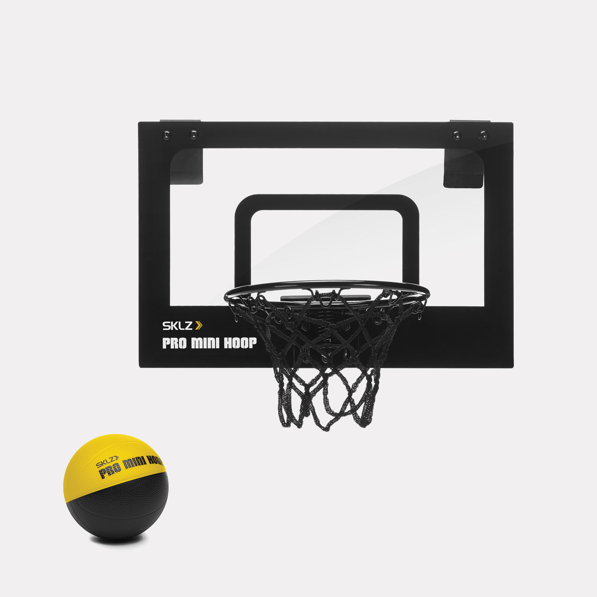 "SKLZ Pro Mini Basketball Mounting Hoop, Micro with 4"" Foam Ball"