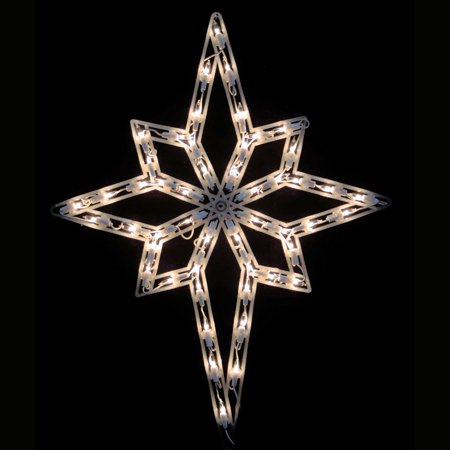 Northlight Lighted Star of Bethlehem Window Silhouette Decoration - Set of 4