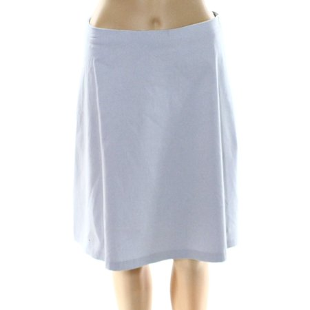 Alfani NEW Blue City Womens Size 16 Zip-Pocket Seamed A-Line Skirt A-line Back Zip Skirt