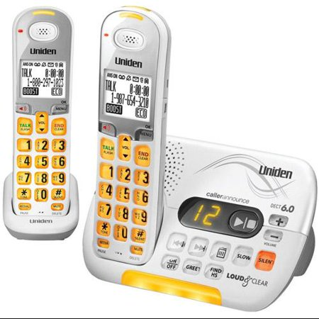 Uniden D3097-2 DECT 6.0 Amplified Cordless Phone w  1 Extra Handset by