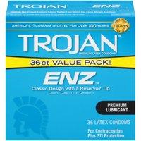 Trojan ENZ Premium Smooth Lubricated Condoms - 36 Count