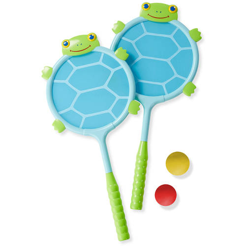 Melissa & Doug Dilly Dally Turtle Racquet and Ball Set