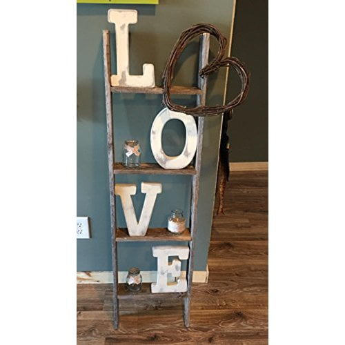 Barnwoodusa Rustic Farmhouse Blanket Ladder Our 4 Ft Ladder Can Be Mounted Horizontally Or Vertically And Is Crafted From 100 Recycled And Reclaimed Wood No Assembly Required Weathered Gray Walmart Com Walmart Com