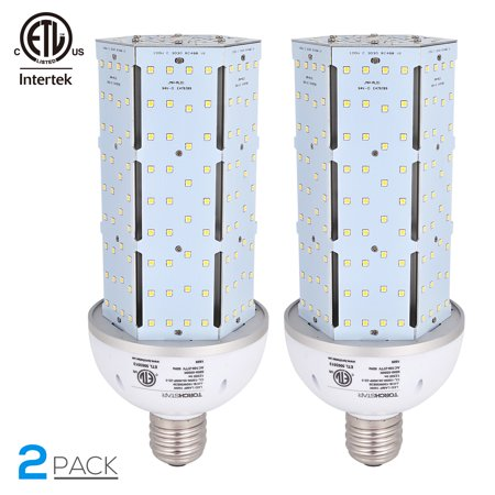 100w Large 1 Light - TORCHSTAR 2 Pack 100W LED Lights Corn Light Bulb, LED Corn Bulb Lamp Light, Corn Bulb Light Lamp for Indoor Large Area, Garage Lighting, 5000K Daylight, E39 Base