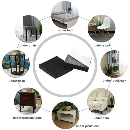 "Furniture Felt Pad Square 1"" Anti-scratch for Furniture Cabinet Black 100pcs - image 1 de 7"