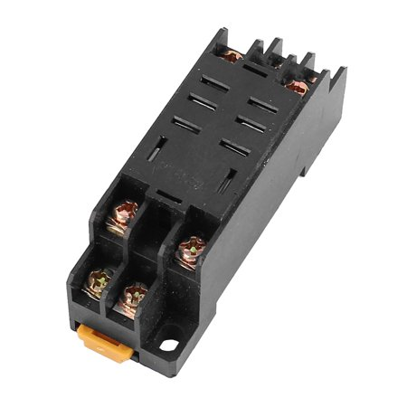 2-M4X10 8 Terminal 35mm DIN Rail Mounted Power Relay Socket Base Holder