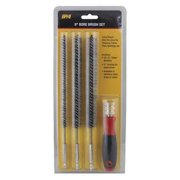 INNOVATIVE PRODUCTS OF AMERICA 8083 Bore Brush Set,Steel,4 pcs.