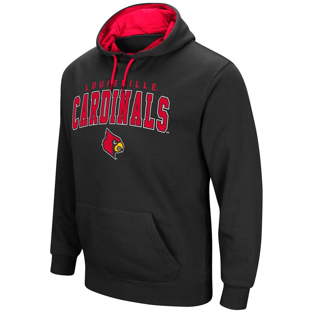 Mens Louisville Cardinals Pull-over Hoodie by Colosseum