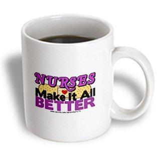- 3dRose Nurses Make It All Better Purple, Ceramic Mug, 11-ounce