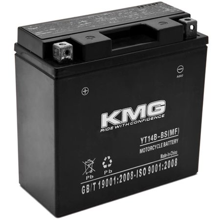 KMG YT14B-BS Battery For Yamaha 1700 MT-01 (EU) 2005-2012 Sealed Maintenance Free 12V Battery High Performance SMF OEM Replacement Powersport Motorcycle ATV Snowmobile Watercraft - image 3 of 3