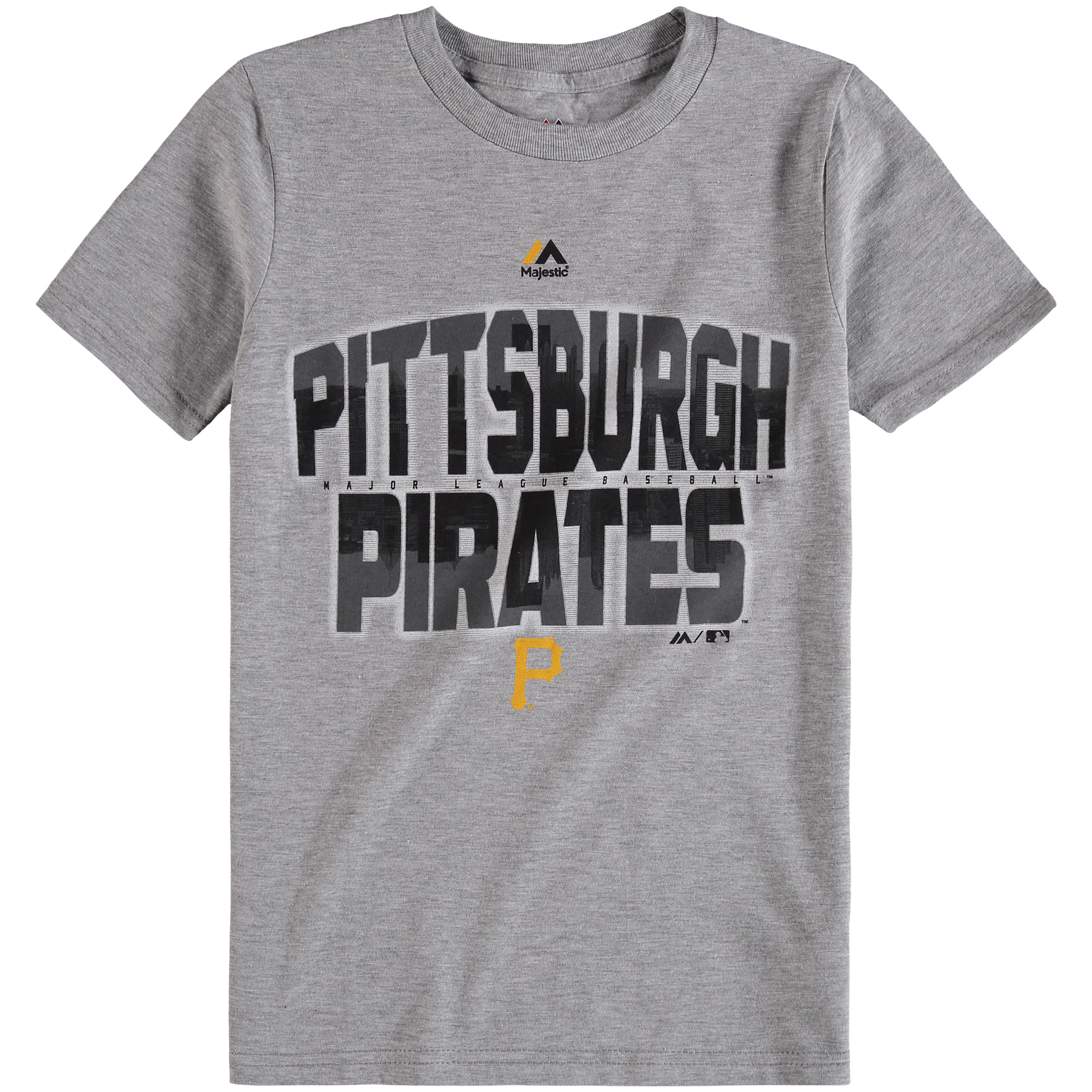 Pittsburgh Pirates Majestic Youth Big City T-Shirt - Gray