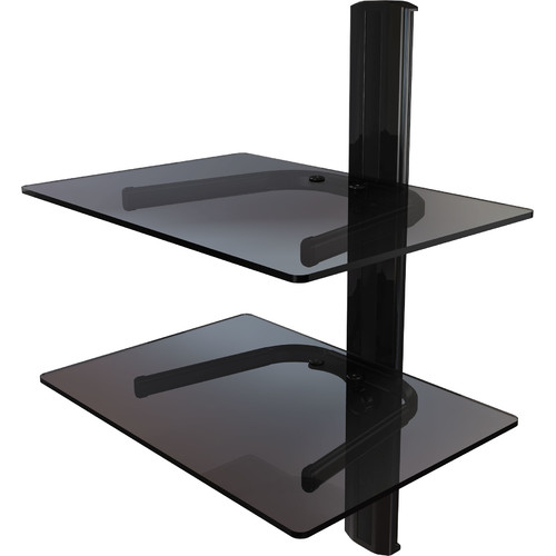 Crimson AV Dual Shelf Wall Mount System with Cable Management
