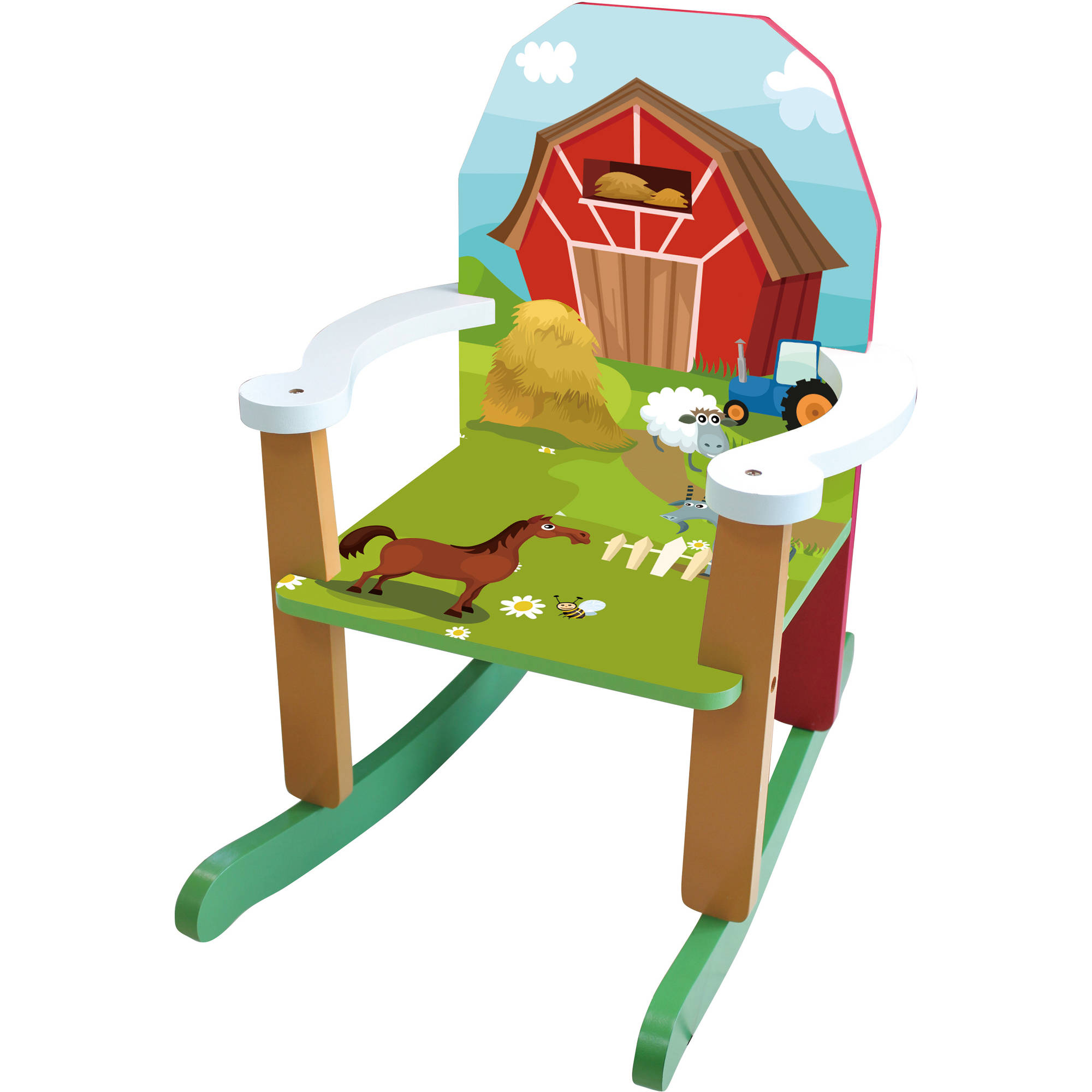 wood farm rocking chair