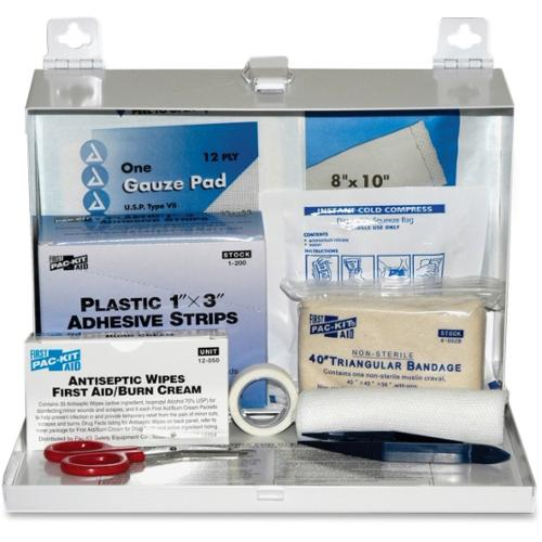 "Pac-Kit Safety Eq. 25-person First Aid Kit - 159 x Piece(s) For 25 x Individual(s) - 7"" Height x 9.8"" Width x 2.5"" Depth"