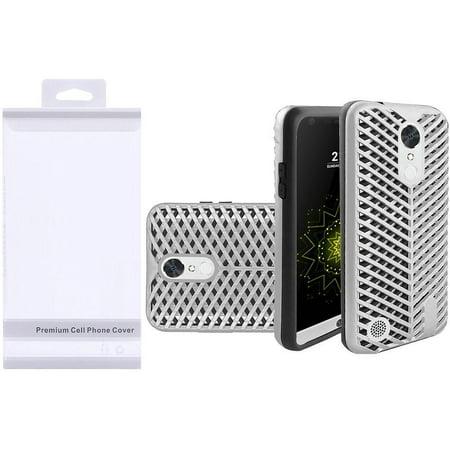 LG K20 Plus case, LG K20 V case, LG V5 case, by Insten ZigZag Design Hybrid  Hard PC/Silicone Case Cover with Package For LG K20 Plus / K20 V / V5 -
